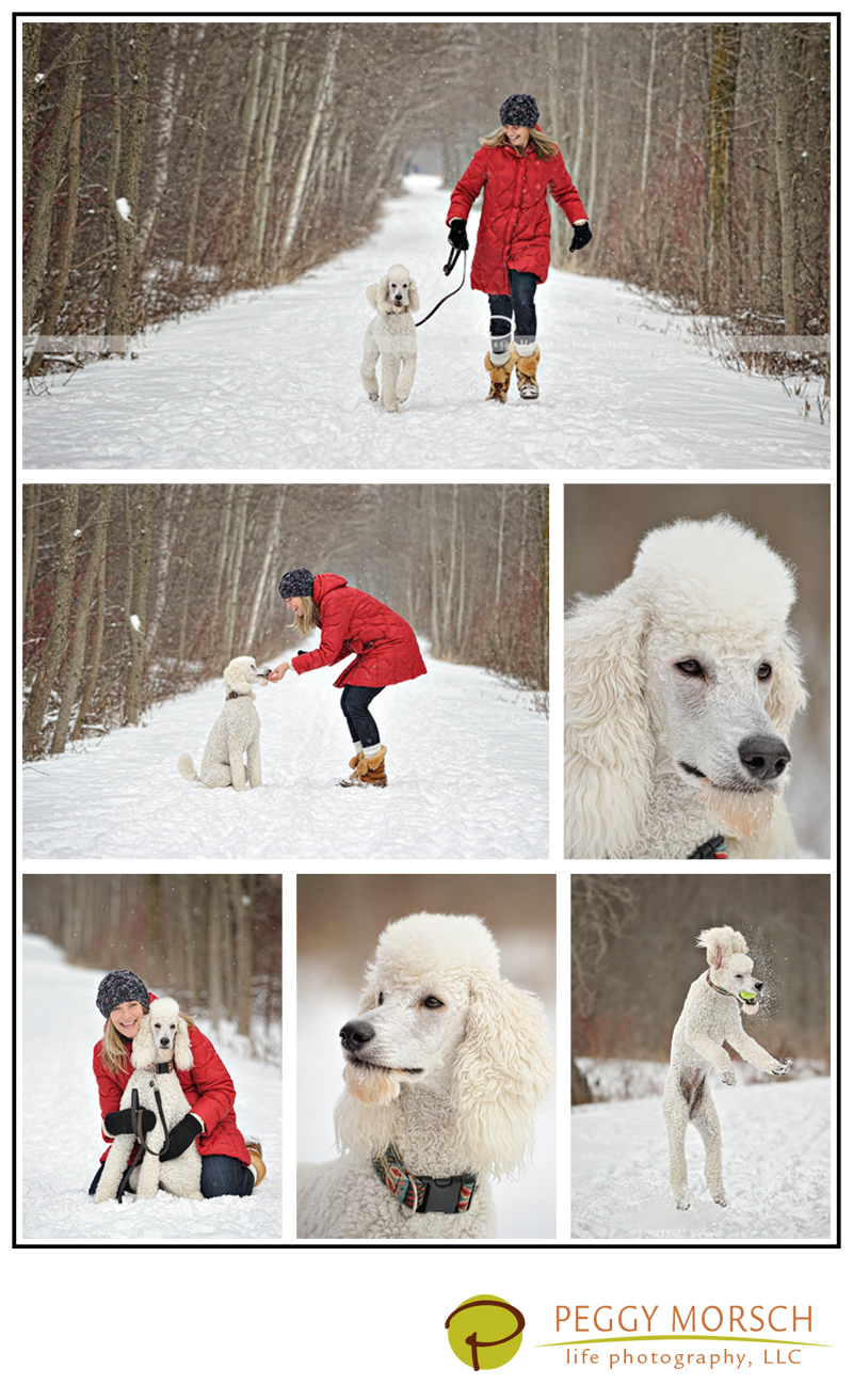 Oliver and owner, Cheri, enjoy their play time in fresh snow during the SNOW DOGs event.